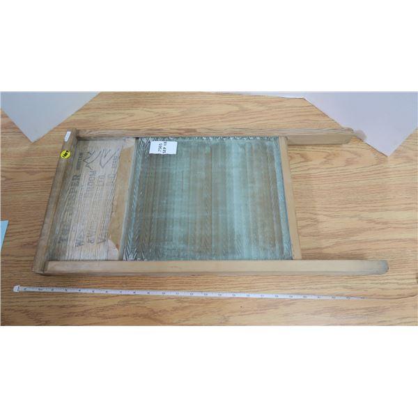 "Vintage ""The Jasper"" Glass Wash Board"