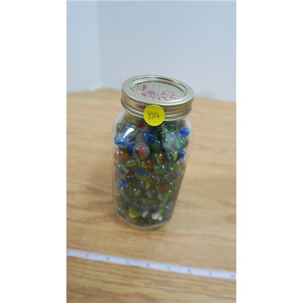 Quart Jar with Vintage Marbles
