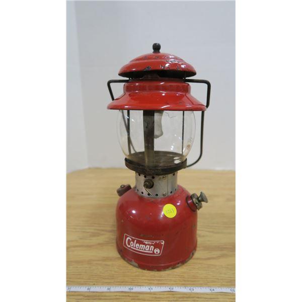 Vintage 1966 Red #200 Coleman Lamp