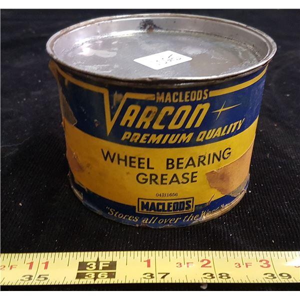 Varcon wheel bearing grease tin