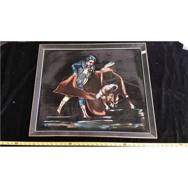 Velvet painting - Bull fighter