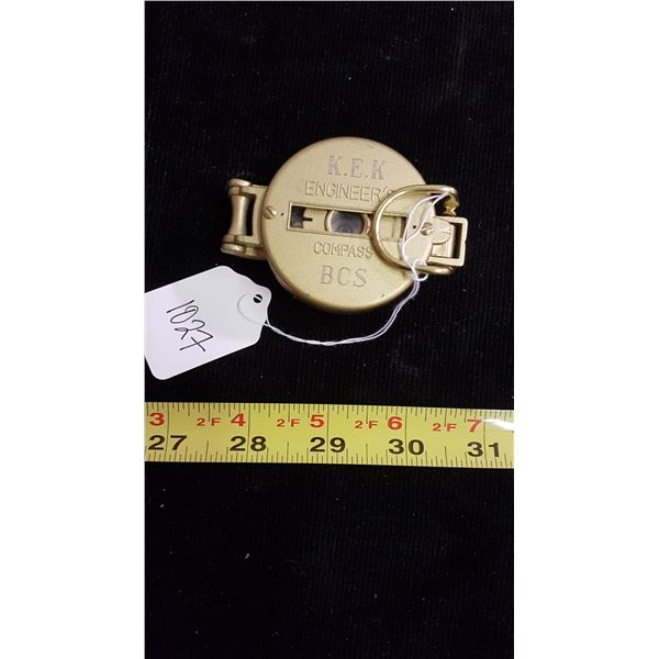 Engineers fold out pocket compass