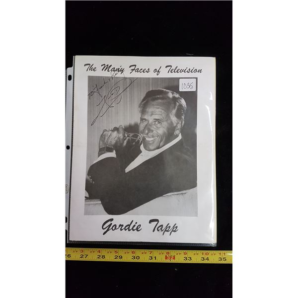 Signed promo picture program Gordie Tapp