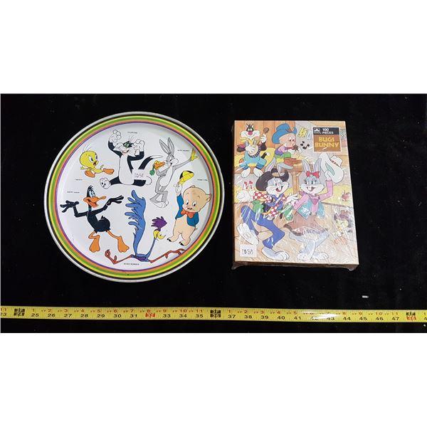 Bugs Bunny Warner Bros. unopened puzzle & metal tray