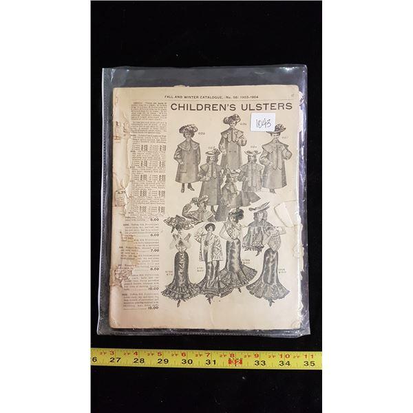 1903-1904 original Eaton's catalogue RARE
