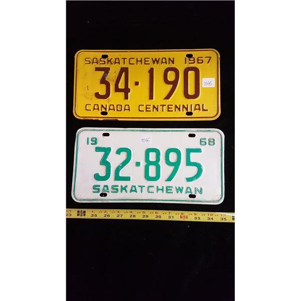 1967-1968 Saskatchewan license plates