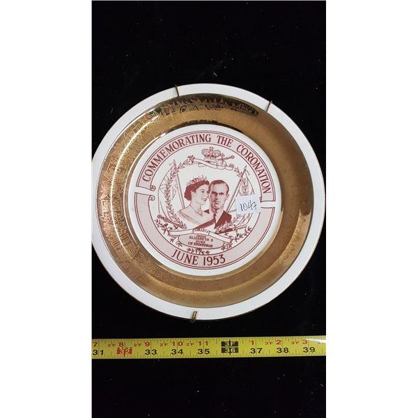 1953 Queen Elizabeth II coronation plate
