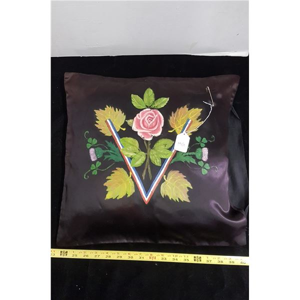 WWII - V for Victory hand painted pillow