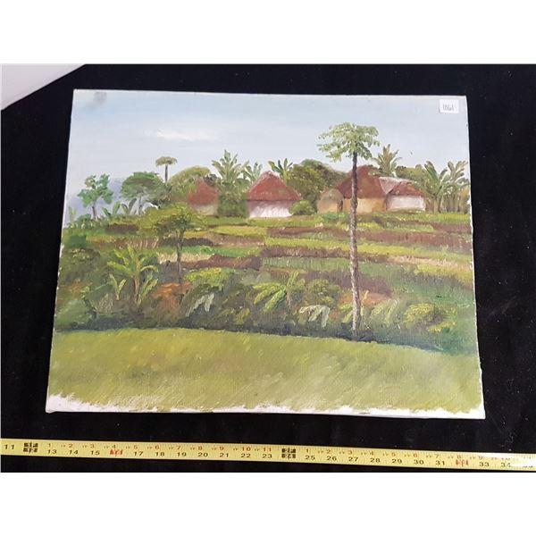 Hawaiian tiki original oil painting