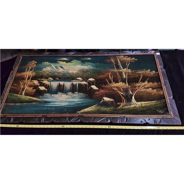 Large velvet painting