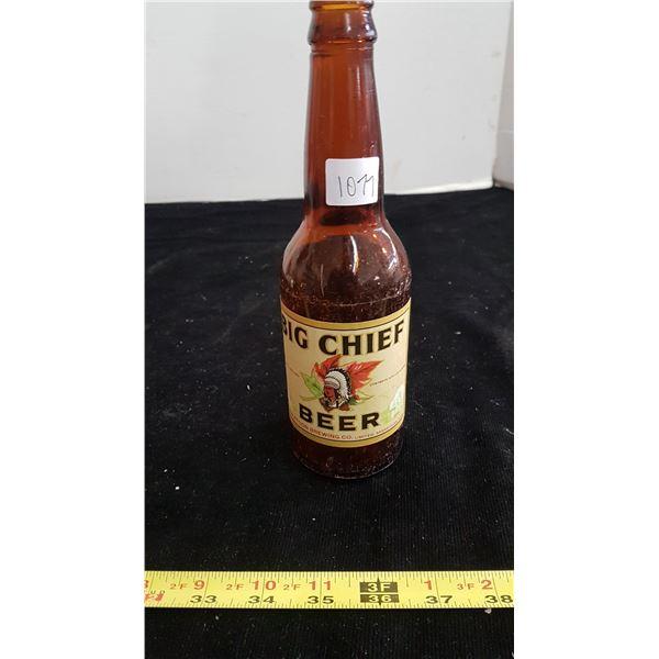 Big Chief beer bottle Saskatoon