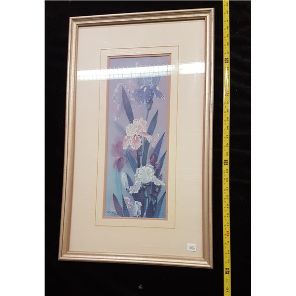 Framed 'Orchids' picture print L. Chang