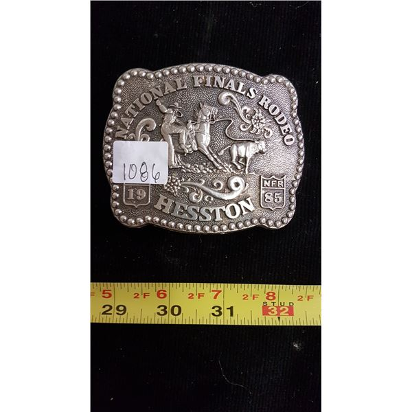 Hesston 1985 collectors NFR belt buckle signed Fred Fellows