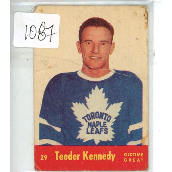 1950's Parkhurst hockey rookie card Teeder Kennedy #29 Toronto