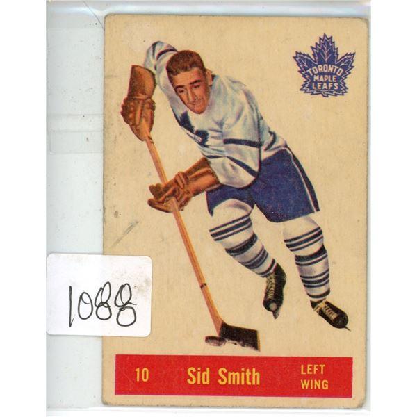 1950's Parkhurst hockey rookie card Sid Smith #10 Toronto