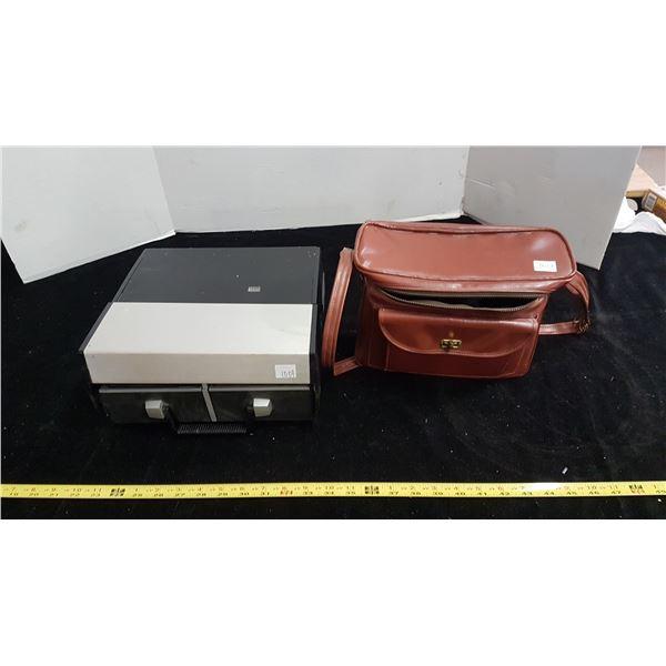 Vintage cameras and film projector
