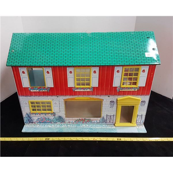 1950's Marx doll house with furnite