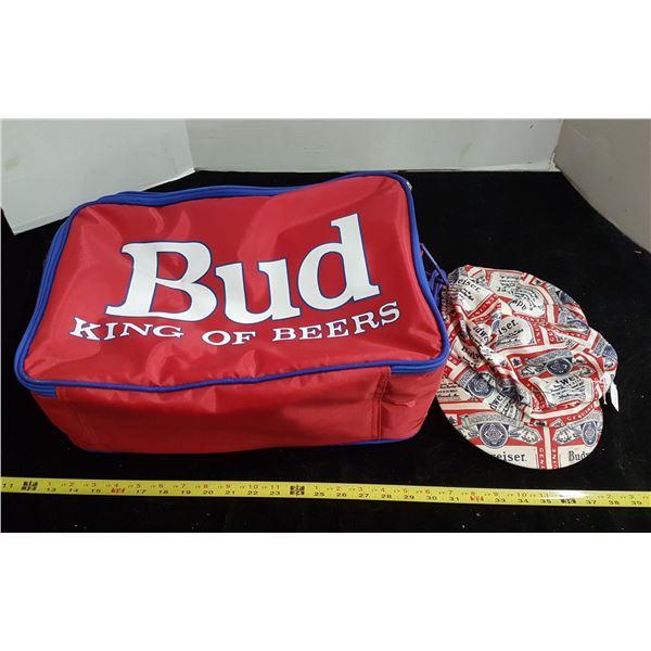 Vintage Budweiser cap & Budweiser tote bag