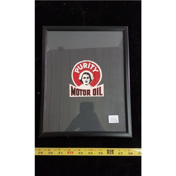 Purity motor oil advertising (framed)
