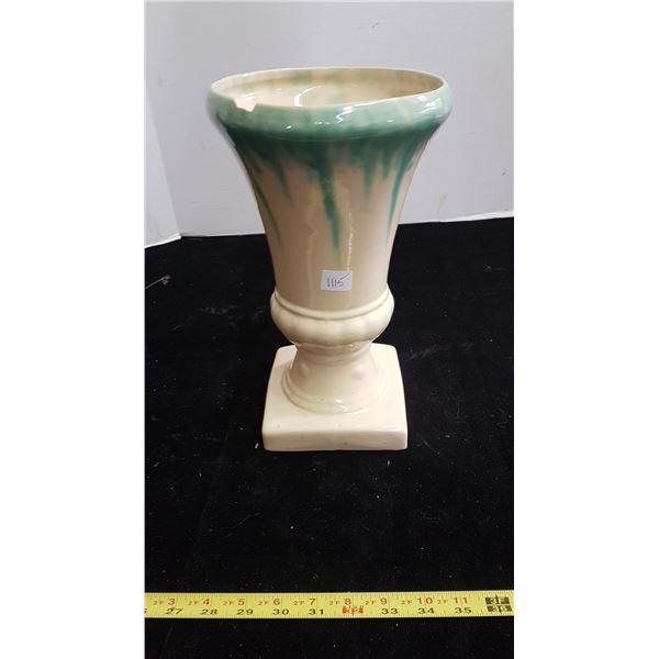 """Medalta vase 1932 12"""" tall (with chip)"""