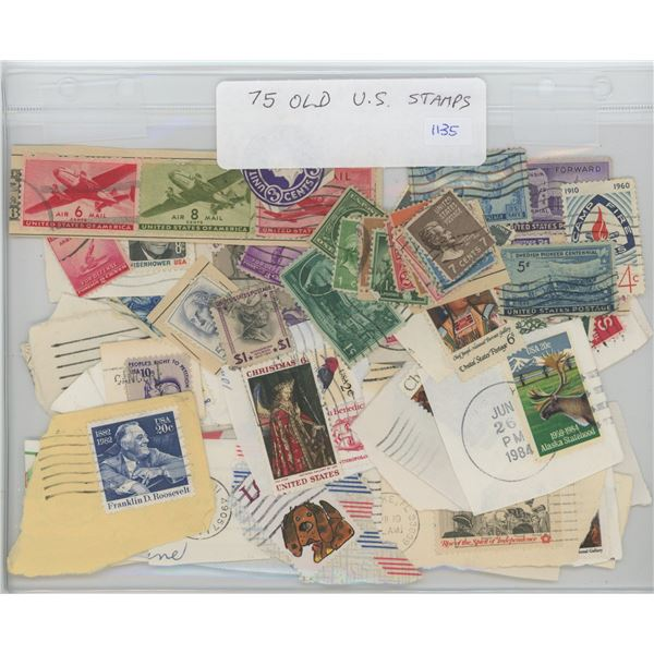 75 Old United States Stamps.