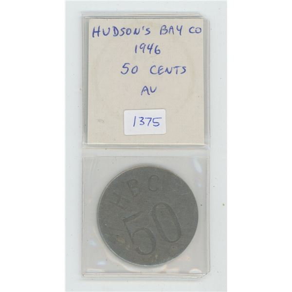 Hudson's Bay Company 1946 Eastern Arctic 50 Cents. Issued by the HBC to teach the Inuit the decimal