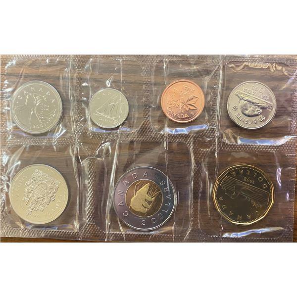 1998W Proof Like Set. 7-coin set minted in Winnipeg.