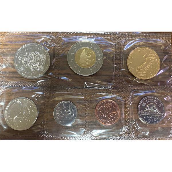 1999 Proof Like Set. 7-coin set featuring Polar Bear toonie.