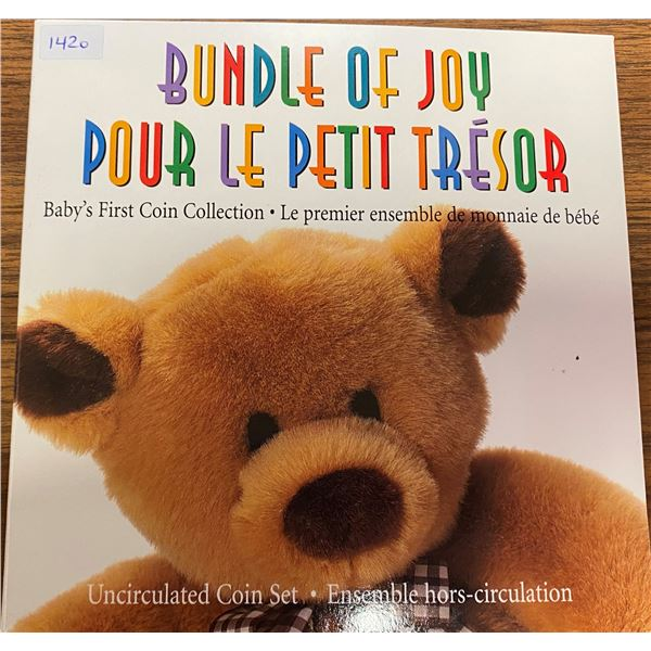 1995 Bundle of Joy (Baby's First Coin Collection). 6-coin set. As issued by the Royal Canadian Mint.