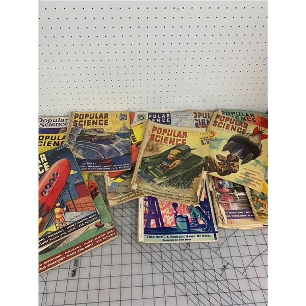 LOT OF OLD POPULAR SCIENCE MAGAZINES