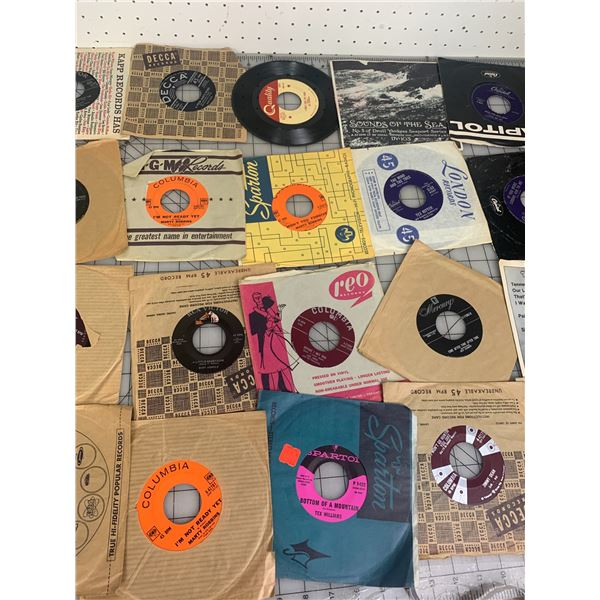 LOT OF 45 RPM RECORDS