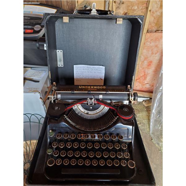 Underwood typewriter from dental office -needs some love