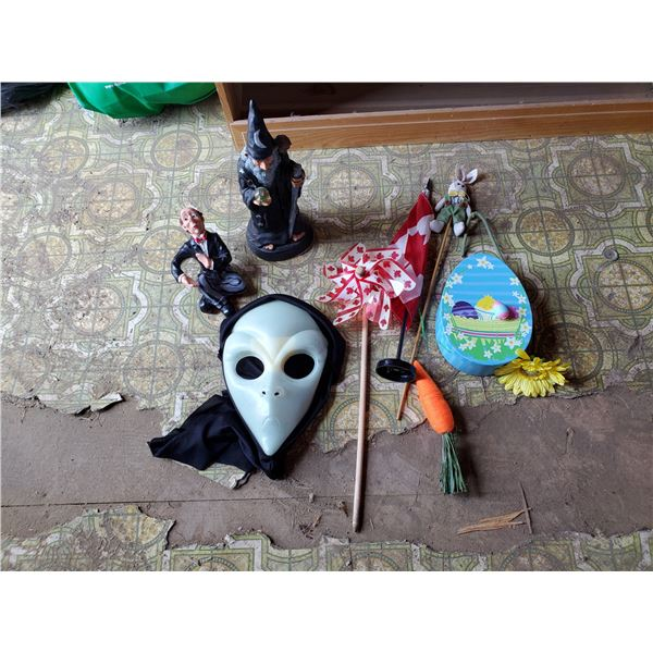 lot of holiday items -halloween, easter