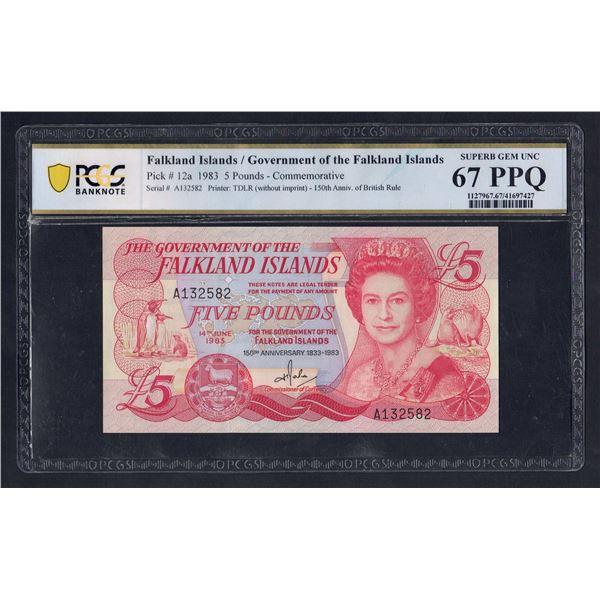 FALKLAND ISLANDS 5 Pounds. 14.6.1983. QEII PORTRAIT