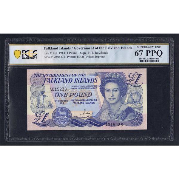 FALKLAND ISLANDS 1 Pound. 1.10.1984. QEII PORTRAIT