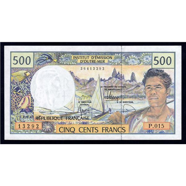 FRENCH PACIFIC TERRITORIES 500 Francs. 2010. Sig Barroux-Noyer-Besse