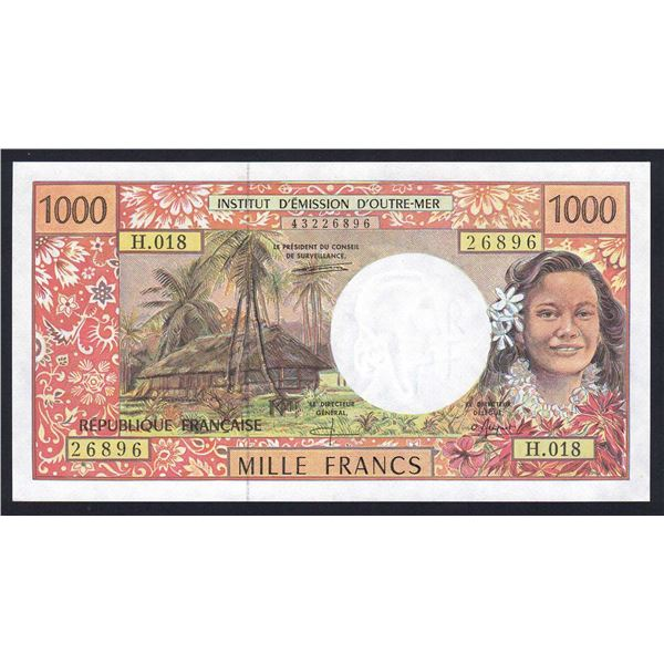 FRENCH PACIFIC TERRITORIES 1000 Francs. 1996. Sig Pouillieute-Ferman-Beugnot