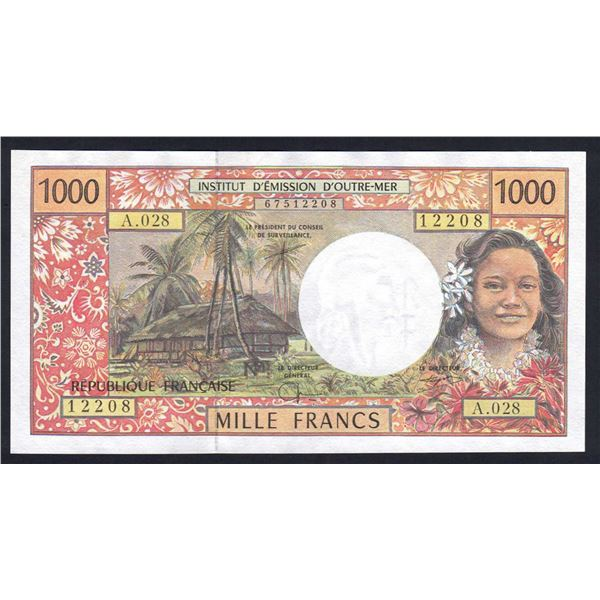 FRENCH PACIFIC TERRITORIES 1000 Francs. 2002. Sig Severino-Redouin-Teyssere