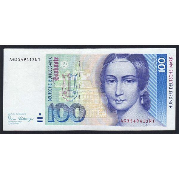 GERMANY (FEDERAL REPUBLIC) 100 Deutsche Mark. 2.1.1989. Sig Pohl-Schlesinger