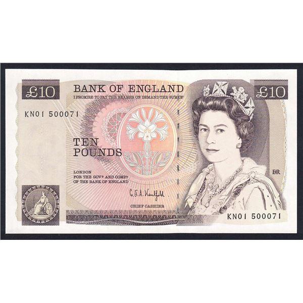 "GREAT BRITAIN 10 Pounds. 1991. Sig Kentfield. SCARCE 1ST RUN ""KN01"". Cat £120"