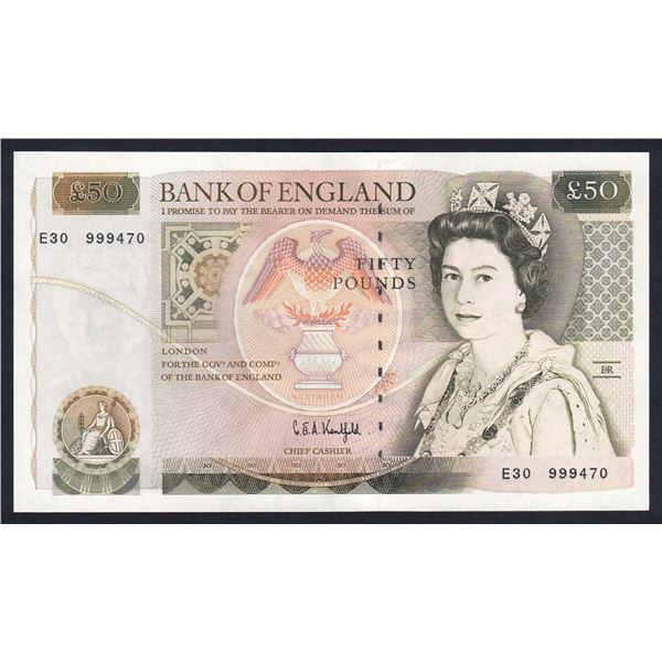 "GREAT BRITAIN 50 Pounds. 1991. Sig Kentfield. SCARCE LAST RUN ""E30"". Cat £220"