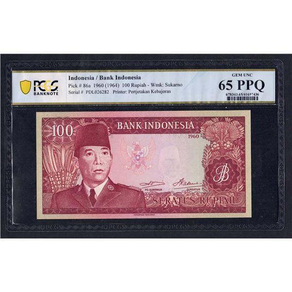 """INDONESIA  100 Rupiah. 1960 (1964). Wmk Sukarno. PREFIX """"3 LETTERS"""""""