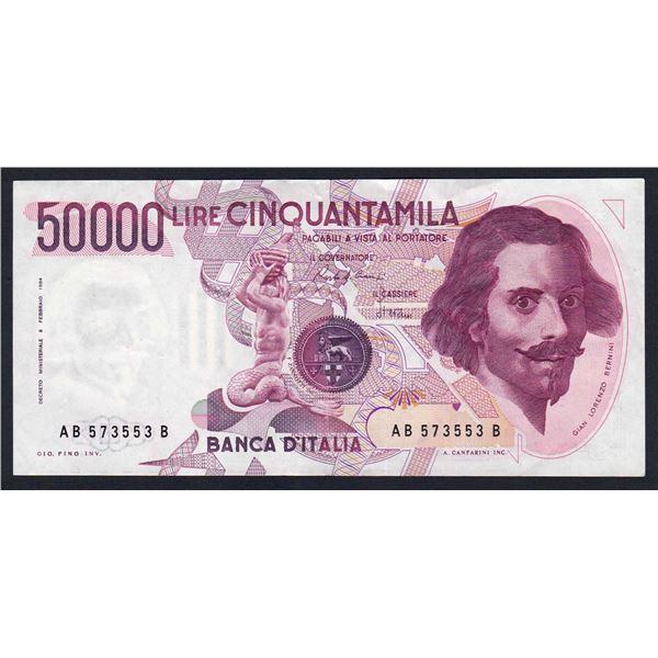 ITALY 50,000 Lire. 6.2.1984. Sig Ciampi-Stevani