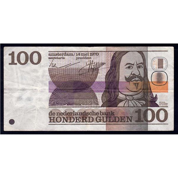 NETHERLANDS 100 Gulden. 14.5.1970. ELUSIVE HIGH VALUE