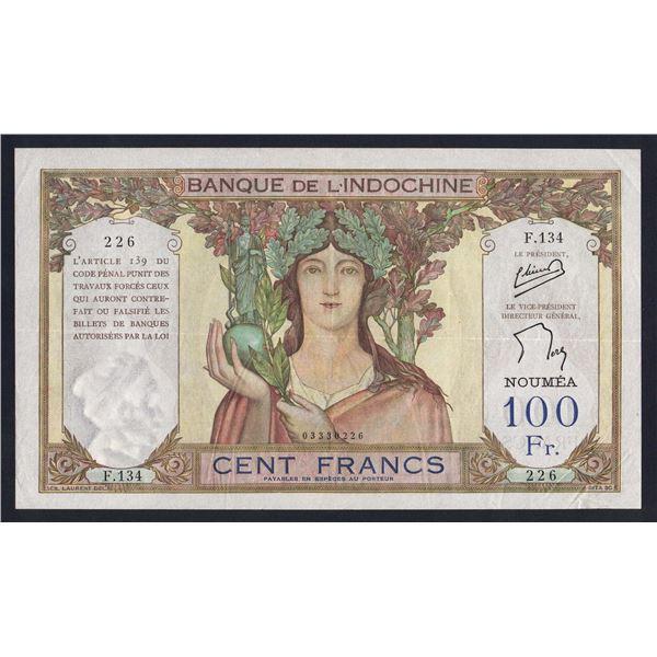 NEW CALEDONIA 100 Francs. 1957. Sig Minost-de Flers. HANDSOME COLONIAL NOTE!