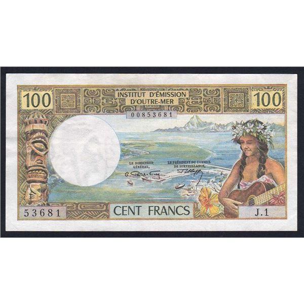 "NEW CALEDONIA 100 Francs. 1969. W/O ""REPUBLIQUE FRANCAISE"". Sig Postel Vinay-Clappier"