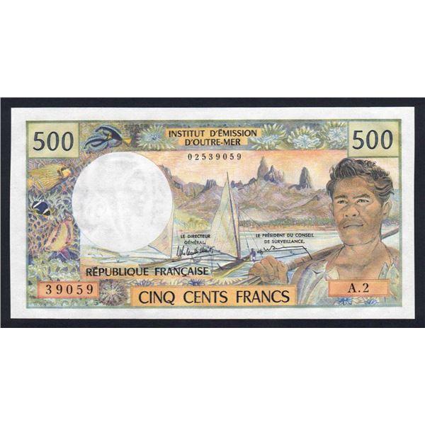 NEW CALEDONIA 500 Francs. 1990. Sig Rolland Billecart-Waitzenegger