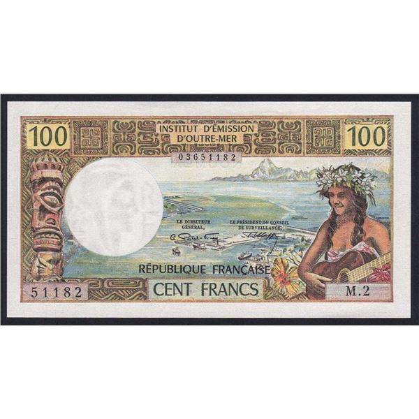 NEW CALEDONIA 100 Francs. 1973. Sig Postel Vinay-Clappier. LITHOGRAPHED PRINTING