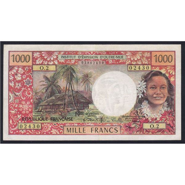 NEW CALEDONIA 1000 Francs. 1971. Sig Postel Vinay-Clappier