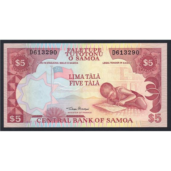 "SAMOA 5 Tala. 2002. Sig Malielegaoi. SOLID THREAD WITH ""CBS"". Prefix ""D"""